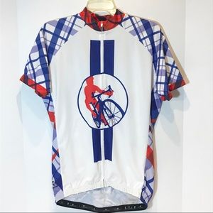 Ride for AIDS Chicago mens cycling zip jersey